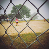255/365. Dreary day at softball today but the fun part was getting to keep score. #m4hp365 #ciuan365 #softball #girlsrule