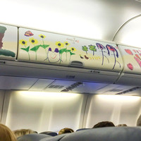 260/365. I loved these adorable drawings on the overhead compartments on my flight to Hartford today. #m4hp365 #ciuan365 #southwest