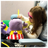 54/365. Dentist time. Natalie loves cleaning the teeth of the stuffed animal. #Markel365 #familyfriends365 by markellifeinphotos