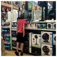 176/365. Yep. He's doing what it looks like he's doing.  In a store. Lol! #familyfriends365 #Markel365