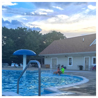 223/365. Late night swimming. #familyfriends365 #markel365 #swimming