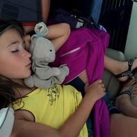 220/365. Sleeping on the plane.