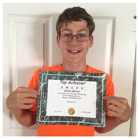 168/365. Dalton received a top achiever award for creative art today. #familyfriends365 #Markel365