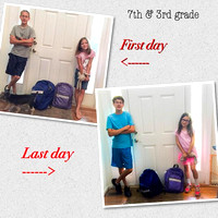 169/365. Comparison of first day and last day of seventh and third grade. #Markel365 #familyfriends365