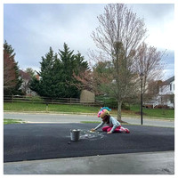 77/365. My little unicorn drawing on the driveway. #Markel365 #familyfriends365 by markellifeinphotos