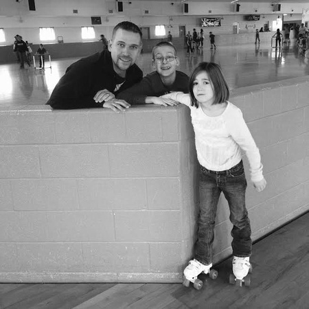 2/365 Roller skating fun today! I sat on the sidelines but these 3 had fun....well, maybe. This was at the end when Natalie was at a stopping point. #m4hp365#m4hdod #rollerskating