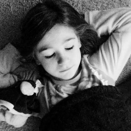 1/365. I'm embarking on my first 365 journey. I've decided to only use my cell for this since I know I'll be more successful. Won't you join? This is my daughter lounging & watching her favorite show.