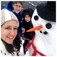 40/365. Snowman fun. #Markel365 #familyfriends365 #doyouwannabuildasnowman #snowman #snowday by markellifeinphotos
